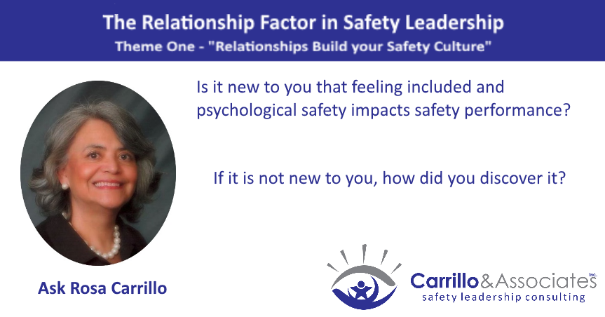 Reflection Questions: Inclusion and Psychological Safety's impact on the Role of Relationships in Safety Performance