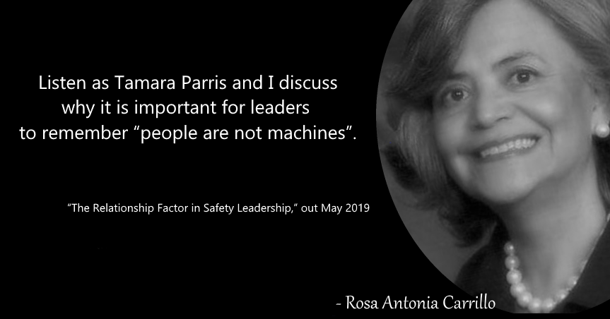 "RELATIONSHIPS BUILD YOUR SAFETY CULTURE – ""People are not machines"""