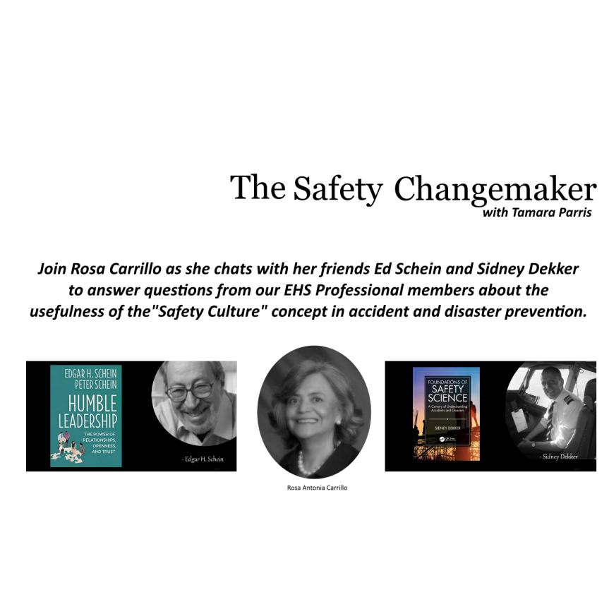 Safety Changemaker: Culture ~ Rosa Carrillo with Edgar Schein and Sidney Dekker (Part One)